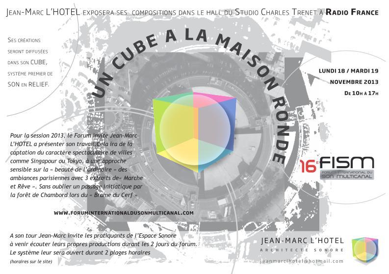 Un Cube à la Maison Ronde FLYER Jean-Marc L'HOTEL