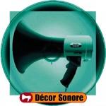 mégaphone décor sonore